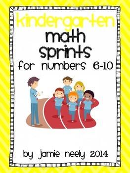 Kindergarten Math Sprints for the Numbers 6-10