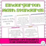 Kindergarten Math Standards & I Can Posters