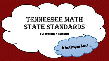 Kindergarten Math Standards (TN)