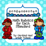 Kindergarten Math Standards with Rubrics