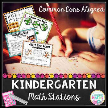 Kindergarten Math Centers {Common Core}