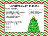 Kindergarten Math Christmas Stations - Common Core Aligned