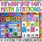 Kindergarten Math Stations - Counting, Addition, Subtraction, Shapes