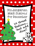 Kindergarten Math Stations for December with BONUS December Calendar Set