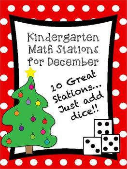 Kindergarten Math Stations for December with BONUS Decembe