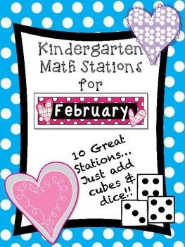 Kindergarten Math Stations for February