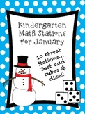 Kindergarten Math Stations for January (10 Activities)