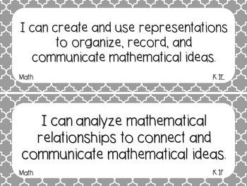 Kindergarten Math TEKS Gray Quatrefoil Design