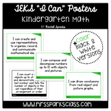 "Kindergarten Math TEKS ""I Can"" Statement Posters"