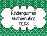 Kindergarten Math TEKS Kelly Green Quatrefoil Design