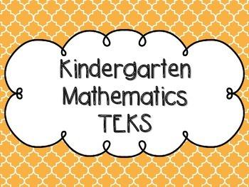 Kindergarten Math TEKS Mustard Yellow Quatrefoil Design