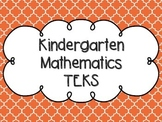 Kindergarten Math TEKS Orange Quatrefoil Design