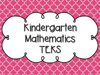 Kindergarten Math TEKS Pink Quatrefoil Design