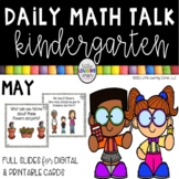 Kindergarten Math Talks - May - Digital and Printable
