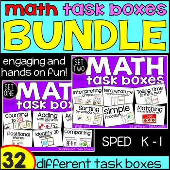 Kindergarten Math Task Boxes - BUNDLE