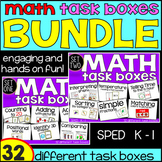 Kindergarten Math Task Boxes - BUNDLE