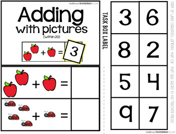 Kindergarten Math Task Boxes - FREE SAMPLE