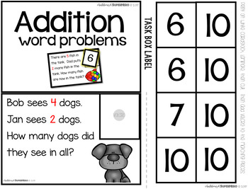 Kindergarten Math Task Boxes - SET ONE