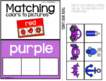 Kindergarten Math Task Boxes - SET TWO