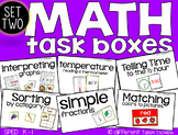 Kindergarten Math Task Boxes - SET TWO