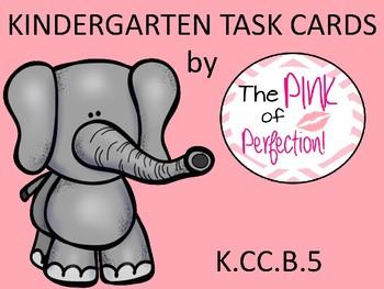 Kindergarten Math Task Cards-K.CC.B.5