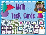 Kindergarten Math Task Cards (80 Cards and Recording Sheets)