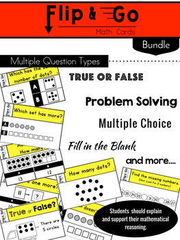 Kindergarten Math Task Cards BUNDLE | Varied Question Types