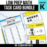 Kindergarten Math Task Cards BUNDLE | Varied Question Types
