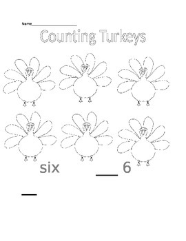 Kindergarten Math Thanksgiving Worksheets