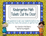 Kindergarten Math Tickets Out the Door