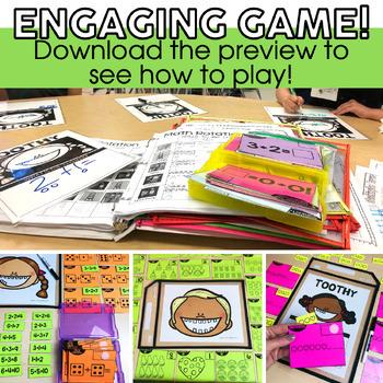 Kindergarten Math Toothy™ Task Kits | Games | Centers | Spiral Review Bundle