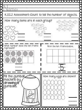 Kindergarten Math Unit (Counting & Cardinality)