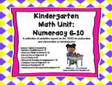 Kindergarten Math Unit:Numeracy 6-10 TEKS Lessons & Intervention Activities