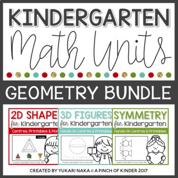Kindergarten Math Units: GEOMETRY BUNDLE