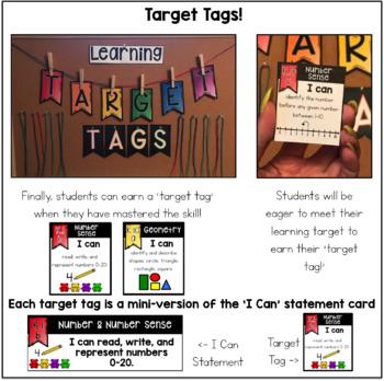 Kindergarten Math VA SOL Learning Target Pack
