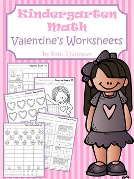 Kindergarten Math ~ Valentine's Worksheets