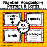 Kindergarten Math Vocabulary