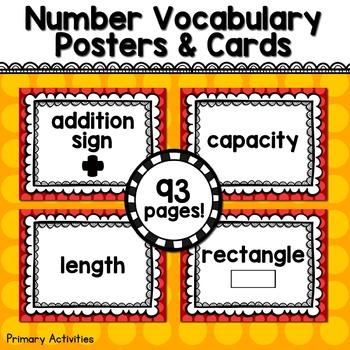 Kindergarten Math Vocabulary