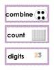 Kindergarten Math Vocabulary Cards, Making Numbers
