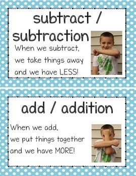 Kindergarten Math Illustrated Vocabulary Cards Numbers to 10