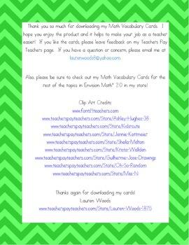 Kindergarten Common Core Math Vocabulary Cards - Topic 7 Understand Subtraction