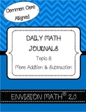 Kindergarten Common Core Math Vocabulary Cards - Topic 8 More Add & Subtraction