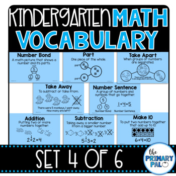 Kindergarten Math Vocabulary Set 4