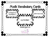 Kindergarten Math Vocabulary **TEKS aligned**