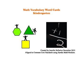 Kindergarten Math Vocabulary Word Cards