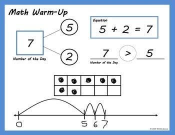 Kindergarten Math Warm-Up Page