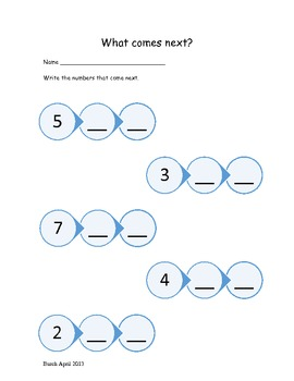 Kindergarten Math - What number comes next?