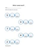Kindergarten Math - What number comes next?