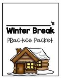 Kindergarten Math Winter Break Packet