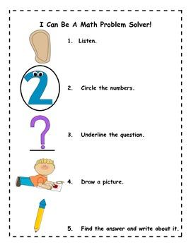 kindergarten math word problem solving poster by miss mack 39 s kindergarten. Black Bedroom Furniture Sets. Home Design Ideas